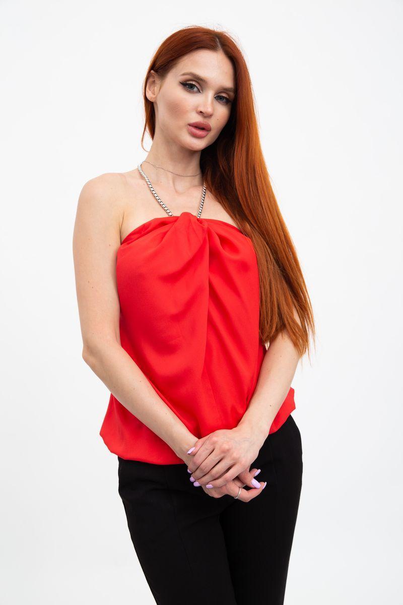 Блуза колір кораловий розмір XL SKL87-298079