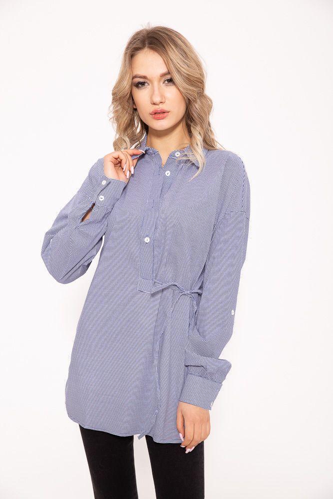 Блузка жіноча колір синьо-білий розмір 34 SKL87-298082