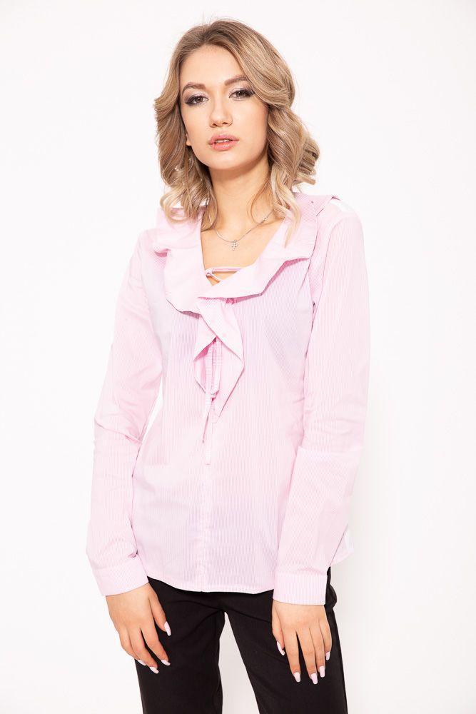 Блузка женская цвет розово-белый размер 38 SKL87-298087
