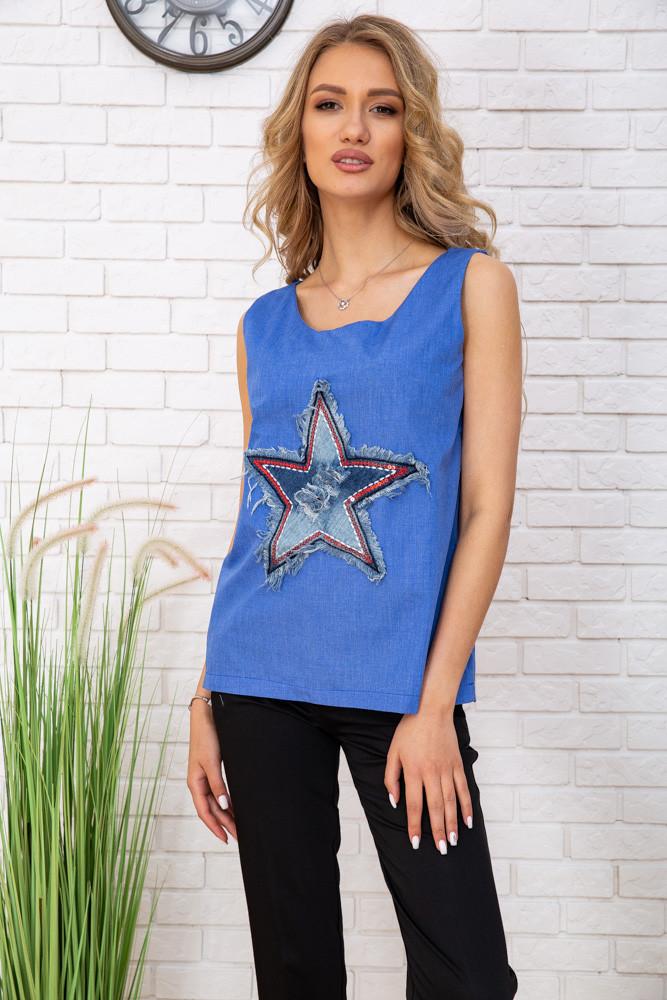 Майка жіноча колір джинс розмір M SKL87-300985