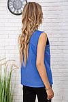 Майка жіноча колір джинс розмір M SKL87-300985, фото 4