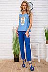 Майка жіноча колір блакитний розмір S SKL87-300992, фото 2