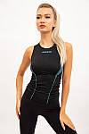 Майка женская цвет черно-бирюзовый размер S SKL87-301017, фото 2