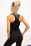 Майка женская цвет черно-бирюзовый размер S SKL87-301017, фото 3