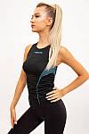 Майка женская цвет черно-бирюзовый размер S SKL87-301017, фото 4