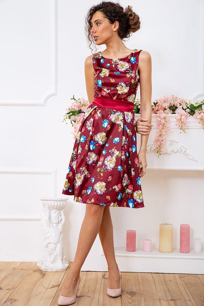 Платье цвет бордовый размер M SKL87-301673
