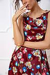 Платье цвет бордовый размер M SKL87-301673, фото 5