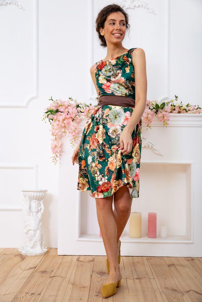 Платье цвет зелено-коричневый размер M SKL87-301677