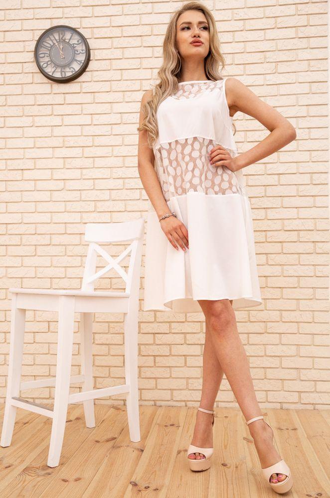 Сукня колір молочний, розмір 46 SKL87-301826