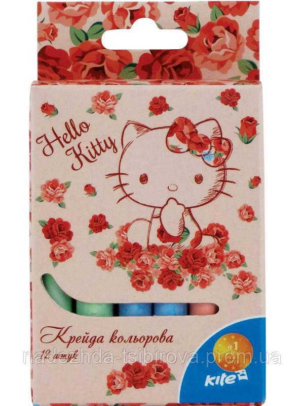 Набор цветных мелков для рисования из 12 шт.  - Hello Kitty - Оптово-розничный интернет магазин детских товаров МагазинЧИК в Днепре