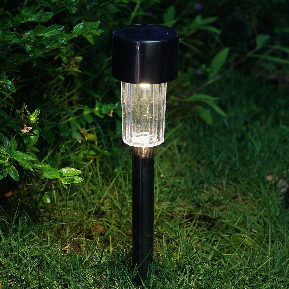 Садовый светильник газонный на солнечной батарее LED Horoz белый свет