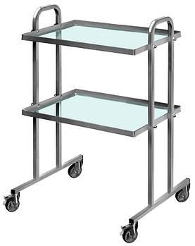 Столик медсестри СМС-Н, столик операційної сестри, інструментальний столик медичний на колесах Заповіт
