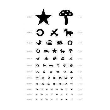 Таблиця для перевірки зору у дітей, таблиця Орлової, плакат для перевірки зору медичний