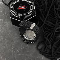 Наручні чоловічі водостійкі електронні годинник Casio G-Shock GLG-1000 кварцові спортивні годинники чорні, фото 5