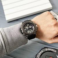 Наручні чоловічі водостійкі електронні годинник Casio G-Shock GLG-1000 кварцові спортивні годинники чорні, фото 6