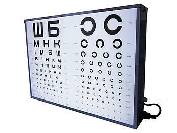Освітлювач таблиць для перевірки зору, апарат Ротта медичний АР-2М