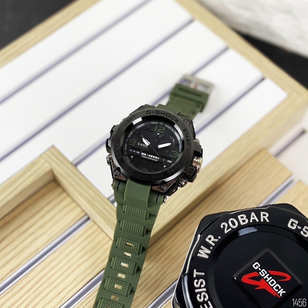 Наручні чоловічі водостійкі електронні годинник Casio G-Shock GLG-1000 кварцові спортивні годинники чорні