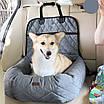 Автогамак автокрісло лежанка трансформер для перевезення собак преміум якість 2 в 1, фото 4