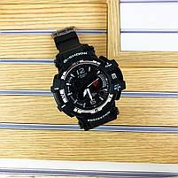 Наручні чоловічі водостійкі електронні годинник Casio G-Shock GPW-1000 Protection спортивні годинники чорні, фото 2