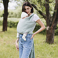 Трикотажный слинг-шарф Love & Carry — Фисташка Organic