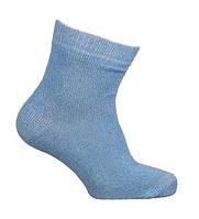 Носки детские, однотонные, голубые, демисезонные, р.12-14