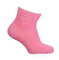 Шкарпетки дитячі, однотонні, рожеві, демісезонні, р. 22-24