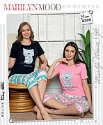 Пижама женская футболка и капри хлопок 100 % 2 цвета Турция № 8339