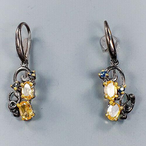 Срібні сережки з цитрином, 665СРЦ