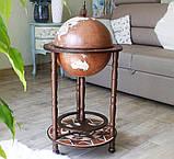 Глобус бар напольный из дерева на 3х ножках, фото 2
