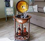 Глобус бар напольный из дерева на 3х ножках, фото 5