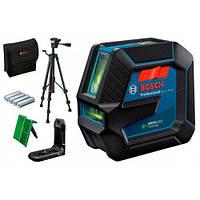 Лазерний нівелір Bosch GLL 2-15 G зі штативом + повний комплект лазерний рівень бош BT 150 0601063W01, фото 1