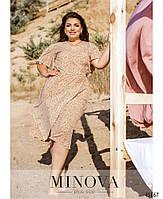 Летнее платье на запах с рукавами-крылышками с 46 по 60 размер, фото 2