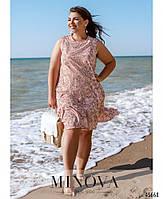 Летнее платье на запах с рукавами-крылышками с 46 по 60 размер, фото 3