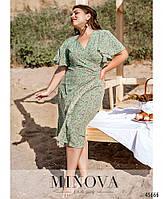 Летнее платье на запах с рукавами-крылышками с 46 по 60 размер, фото 4