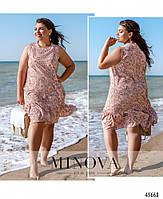 Летнее платье на запах с рукавами-крылышками с 46 по 60 размер, фото 8