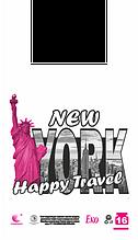 Пакет майка 28*49 new york 250шт/уп