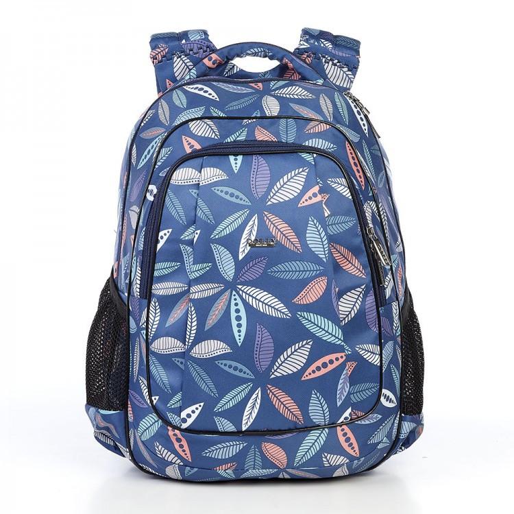 Рюкзак ортопедичний модний Dolly 540 з принтом листя 30*39*21 см