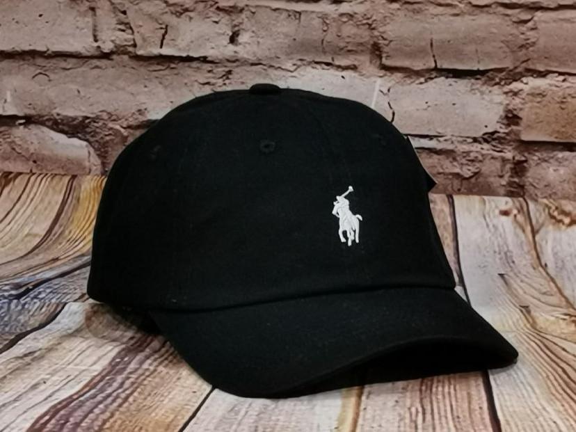 Мужская женская бейсболка кепка поло черная