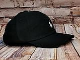 Мужская женская бейсболка кепка поло черная, фото 2