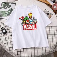Дитяча СУПЕРГЕРОЙСЬКА футболка з накаткою. Білий колір. (Роздріб).