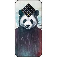 Силиконовый чехол для Infinix Zero 8 с картинкой Панда в капюшоне
