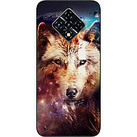 Силиконовый чехол для Infinix Zero 8 с картинкой Космический волк