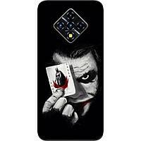 Силиконовый чехол для Infinix Zero 8 с картинкой Джокер с картой