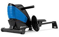 Гребной тренажер для дома до 120 кг Hop-Sport HS-060R Cross Blue черный с синим
