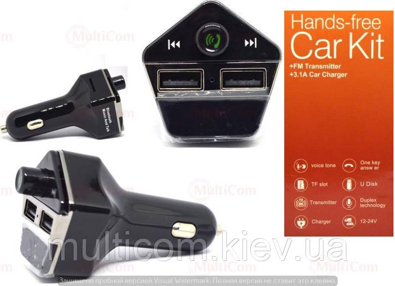 04-04-014. FM модулятор + microSD + Bluetooth + AUX + 2 гнезда USB, ST06