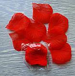 Пелюстки троянд штучні ЧЕРВОНІ, фото 2