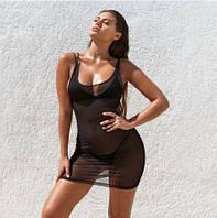 Літній пляжне плаття коротке з сітки
