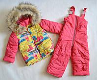 Детский зимний комбинезон на девочку от 1 до 3х лет, детские зимние комбинезоны