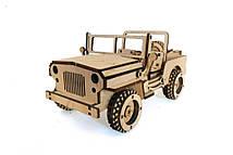 Деревянный 3D-пазл РЕЗАНОК Джип 113 элементов (REZ0007)