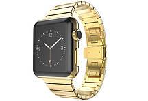 Блочний браслет золотого кольору Link Apple Watch 42 мм (AL813_42mm)